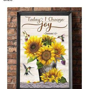 Wall art sunflower scripture James 8×10